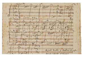 دستنوشته «بتهوون» روی دست ساتبی ماند