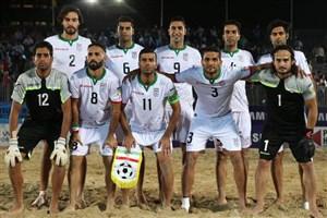 فوتبال ساحلی ایران در سکوی پنجم دنیا ایستاد