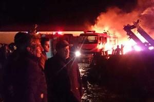 آتش سوزی مرکز اسقاط خودرو شهرک صنعتی شماره 2 اردبیل مهار شد