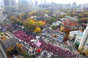 برپایی تظاهرات در سئول برای ششمین هفته متوالی به منظور برکناری رییس جمهور