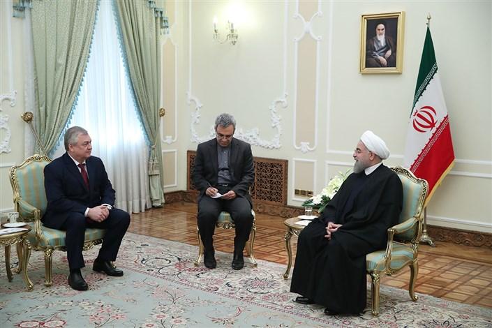 رئیس جمهوری: همفکری و همکاری ایران و روسیه، برای مبارزه علیه تروریسم ادامه می یابد