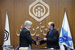 جلسه امضای تفاهم نامه دانشگاه آزاد اسلامی با سازمان تامین اجتماعی