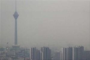وضعیت ناسالم هوای تهران برای گروههای حساس/وزش باد و طوفان گرد و خاک