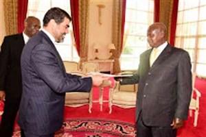 سفیر جدید ایران استوارنامه خود را تسلیم رییس جمهوری اوگاندا کرد
