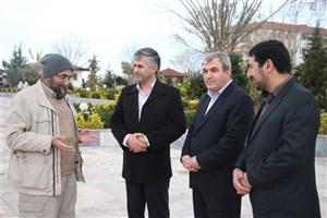 بازدیدمسئول کمیته جستجوی مفقودین و شهدای گمنام دفاع مقدس از محل تدفینشهدا در دانشگاه آزاد اسلامی نور