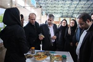 بازدید رئیس واحد نور از نمایشگاه دستاوردهای پژوهشی گروه های آموزشی