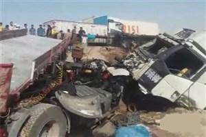 تصادف زنجیره ای با 4کشته در غرب بندرعباس