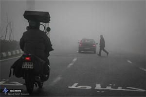 مه تهران را پوشاند/ آلودگیهوا نیست