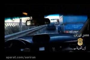 تعقیب و گریز پلیس برای متوقف کردن خودروی سرقتی در تهران