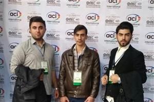 کسب مقام نخست مسابقات بین المللی بتن آمریکا توسط دانشجویان واحد ایلام