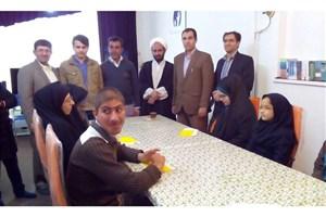مدیران واحد ارسنجان از کتابخانه دیجیتال گویای ارسنجان بازدید کردند