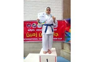کسب مدال طلای مسابقات بین المللی کاراته کاپ ایران زمین توسط دختر بابلی