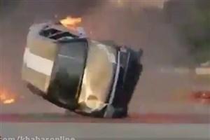 واژگونی خودروی رامبد جوان