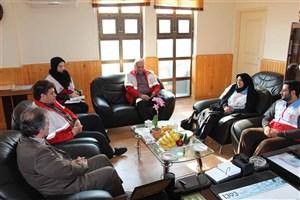 نشست مشترک معاونت امور جوانان هلال احمر استان مازندران و رئیس دانشگاه آزاد اسلامیرامسر