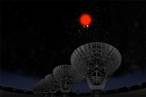 Astronomers Trace Radio Waves From Tiny Galaxy
