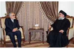 علاء الدین بروجردی با سیدحسن نصرالله دیدار کرد