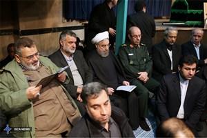 شرکت رییس جمهوری در مراسم وداع با پیکر آیت الله هاشمی رفسنجانی در حسینیه جماران 