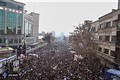 Massive crowd Shows Up For Ayatollah Rafsanjani 's Funeral Procession and  Burial