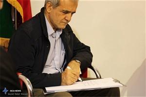 مسعود پزشکیان /در حاشیه تشییع پیکر آیت الله هاشمی رفسنجانی