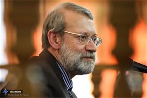 ابراز تاسف لاریجانی نسبت به حمایت هیات حاکمه آمریکا از منافقین و تروریسم
