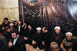 مراسم هفتمین روز ارتحال آیت الله هاشمی رفسنجانی با حضور رییس جمهور