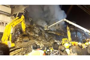 پلاسکو همچنان در آتش و دود