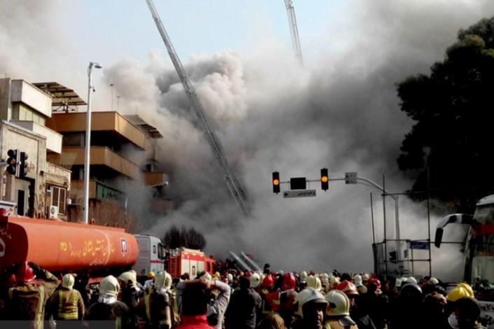 تخریب  ساختمان کنار پلاسکو
