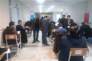 بازدید دکتر ناصر مسعودی از سالن امتحانات