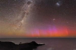 شفققطبی قرمز برفراز استرالیا: تصویر نجومی روز ناسا (۱۰ بهمن ۹۵)