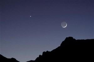 امشب هلال ماه و ۲ سیاره را با هم رصد کنید