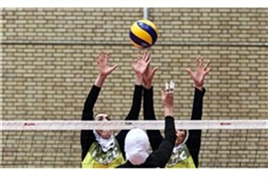 والیبال بانوان دانشگاه آزاد اسلامی در رتبه سوم