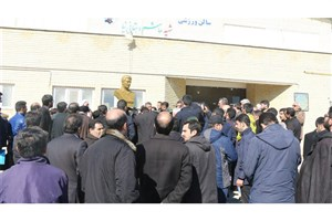 رونماییاز تندیس دانشجوی شهید مدافع حرم در واحد اردبیل