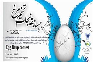 برگزاری نخستین دوره مسابقات چالش جاذبه، نجات تخممرغ در واحد دامغان