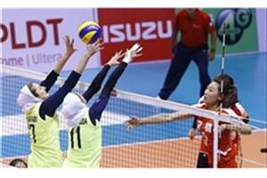 پیروزی دختران والیبالیست ایران مقابل ازبکستان