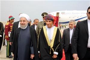 ورود رییس جمهوری به عمان