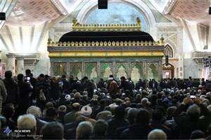 حضور رییس جمهوری در مراسم چهلمین روز ارتحال آیت الله هاشمی رفسنجانی