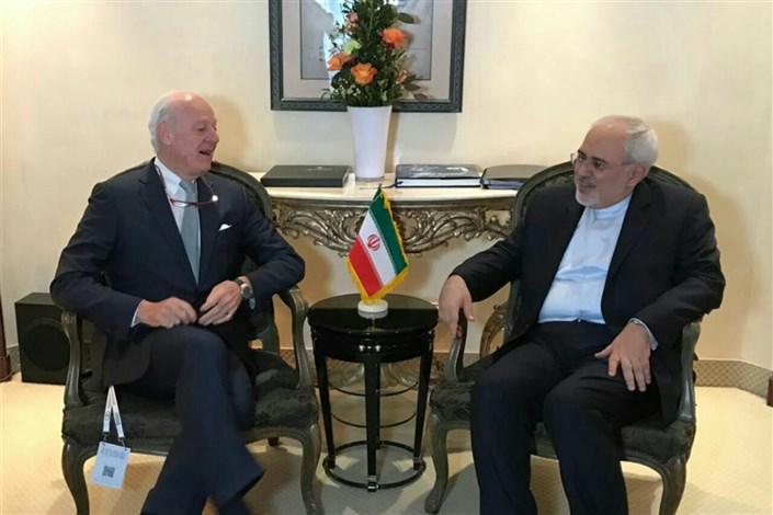 دیدار نماینده ویژه دبیرکل سازمان ملل متحد در امور سوریه با ظریف