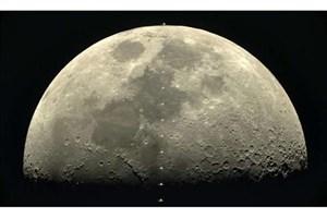 گذر ایستگاه فضایی بینالمللی از ماه