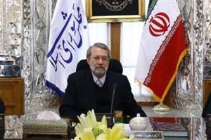 تأکید لاریجانی بر حمایت از کتابخانه و مرکز اسناد مجلس