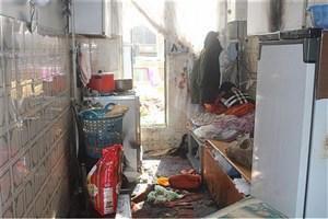 انفجار آشپزخانه یک خانه در شهرک ولیعصر