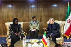 دیدار لاریجانی با رئیس مجلس اوگادانا
