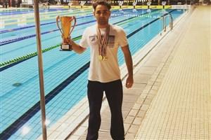 درخشش دانشجوشناگرواحد مبارکه با کسب 6 مدال در مسابقات بزرگسالان کشور