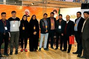 بازدید رئیس دانشگاه آزاد سبزوار از نمایشگاه توانمندیهای رسانه این شهرستان