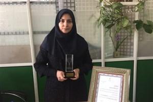 عضو هیات علمی دانشگاه آزاد واحد تهران جنوب درجشنواره برترین های فناوری نانو برگزیده شد