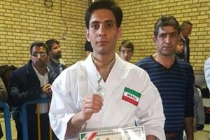 کسب نایب قهرمانی مسابقات باشگاه های کشور انتخابی تیم ملی کاراته توسط دانشجوی واحد مبارکه