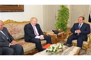 دیدار وزیر خارجه انگلیس با سیسی درباره خاورمیانه و همکاریهای دوجانبه