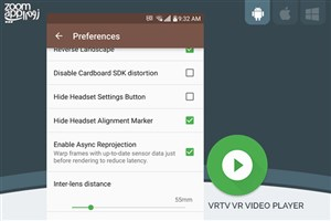برنامه VRTV Video Player: پخش ویدیوهای واقعیت مجازی