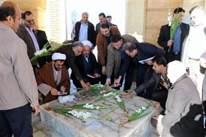 تجدید میثاق با شهدا و عطرافشانی مزار شهدای گمنام در دانشگاه آزاد اسلامی سمنان