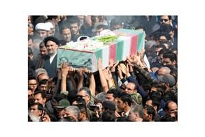 دو شهید گمنام در دانشگاه آزاد اسلامی زادگاه رهبر کبیر انقلاب اسلامی تشییع شدند