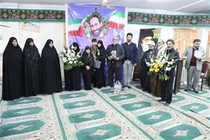 مراسم تجلیل از خانواده شهید مصطفی زال نژاد در واحد آیت الله آملی